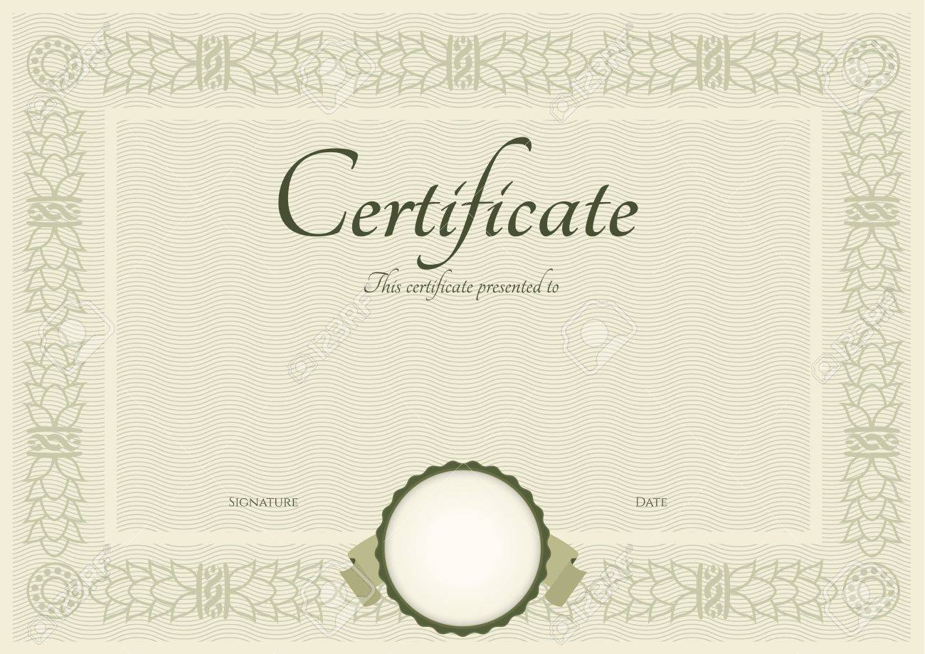 Certificate of completion template. Stock Vector - 16655921
