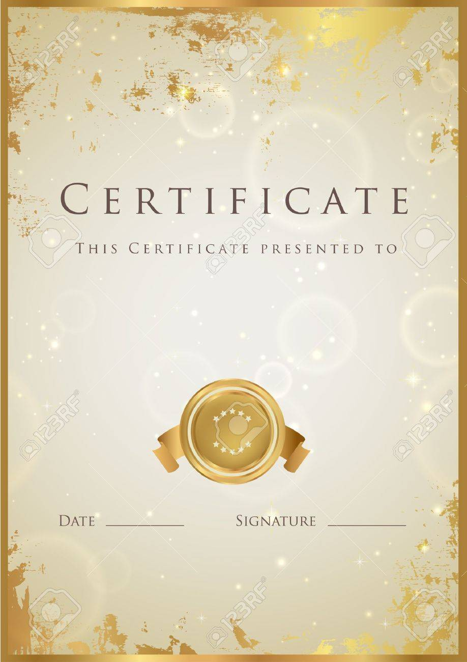 Certificate of completion template Stock Vector - 16703968