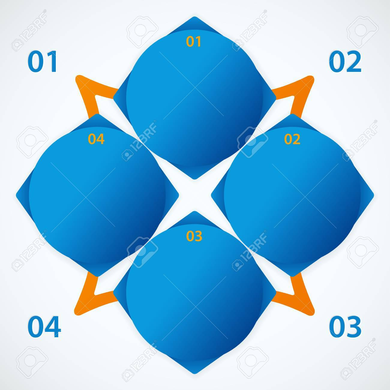 Abstract blue and orange elements with info and numbers  Useful for banner design, business concept, website or web ad  Creative Illustration with numbers, arrows and place for text  Vector EPS 10 Stock Vector - 17491469