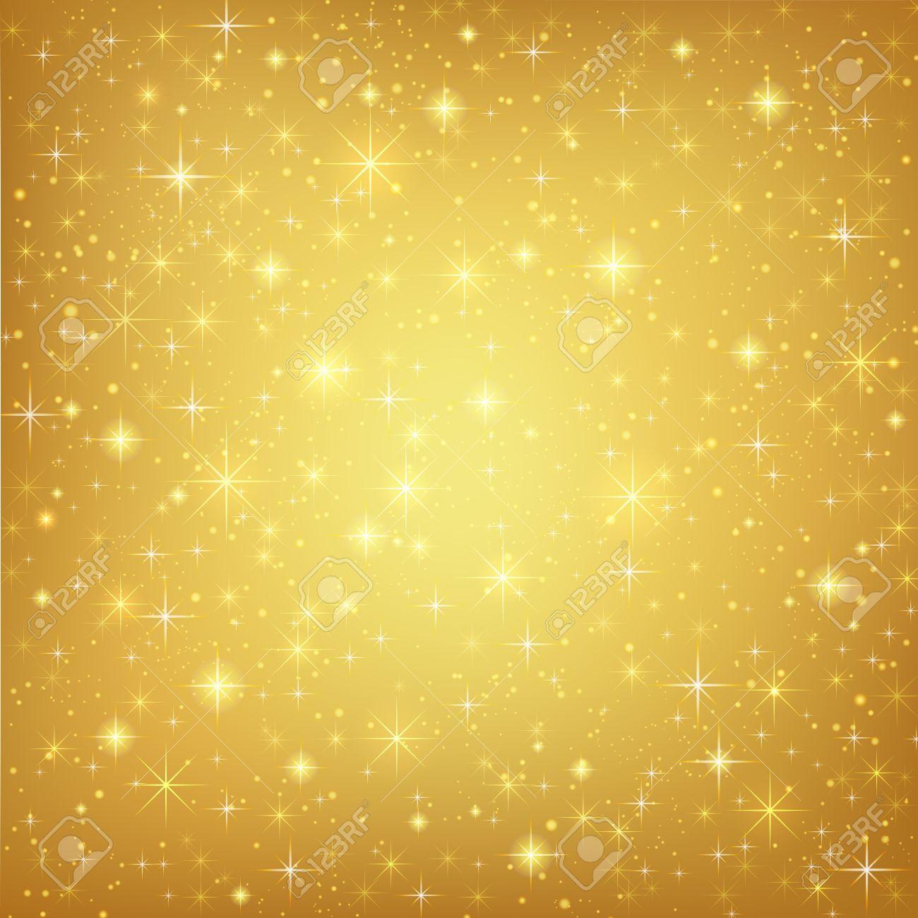 Fond Doré résumé fond doré avec des étoiles scintillantes d'or mousseux