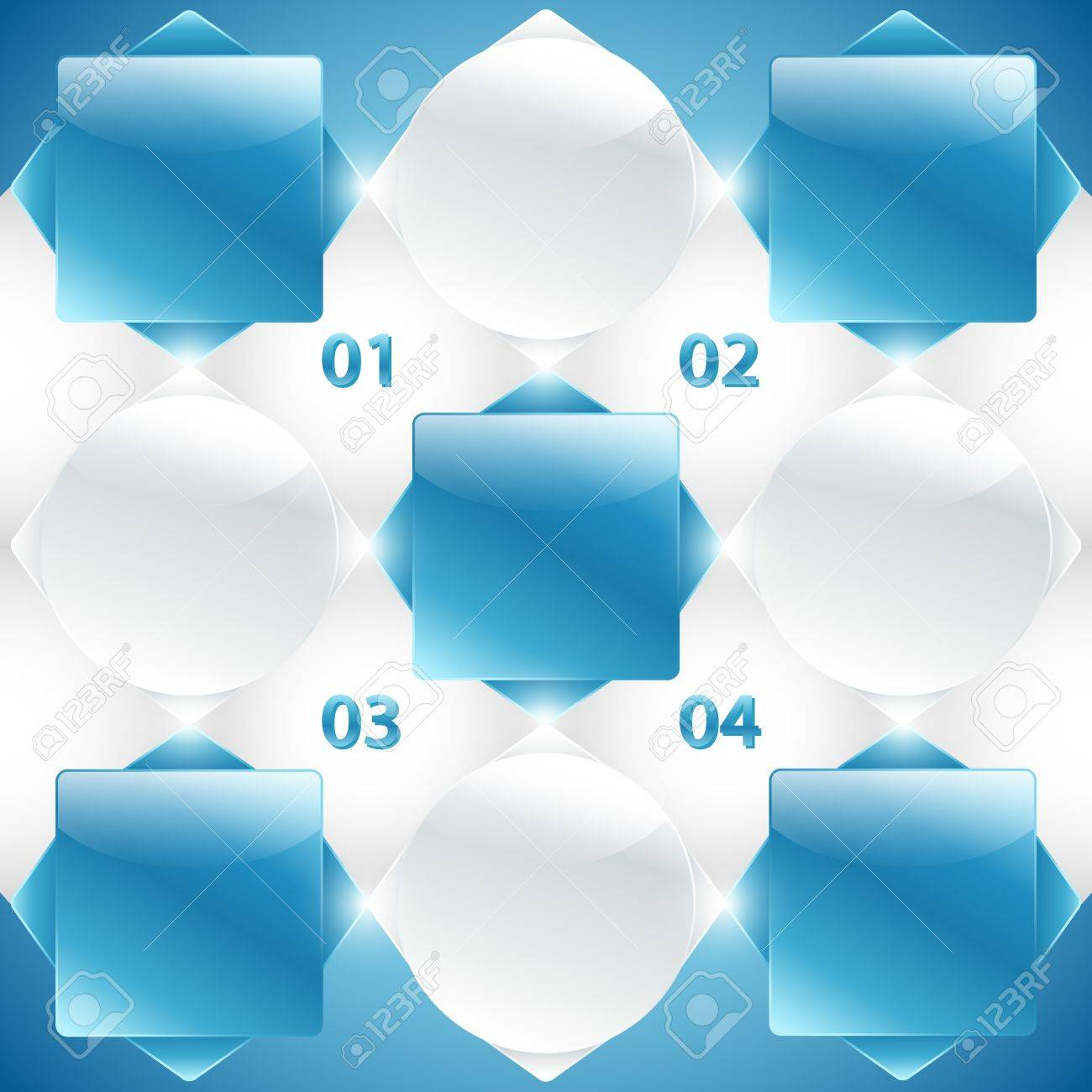 Abstract blue and white banners with info and numbers  Useful for banner design, business concept, website or web ad  Creative Illustration with numbers, arrows and place for text Stock Vector - 17567895