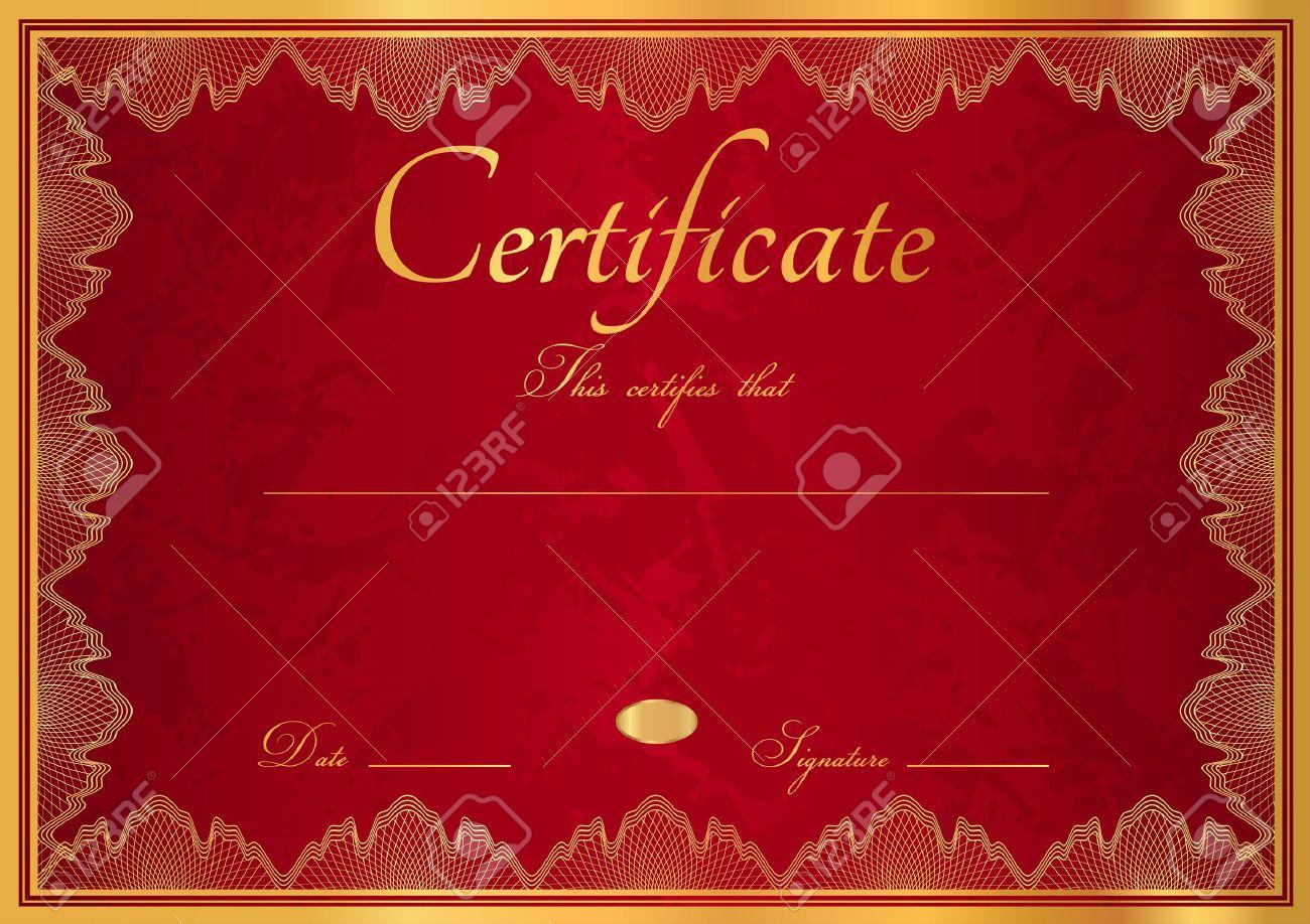 horizontal dark red maroon vinous diploma of completion template horizontal dark red maroon vinous diploma of completion template guilloche pattern watermarks and golden