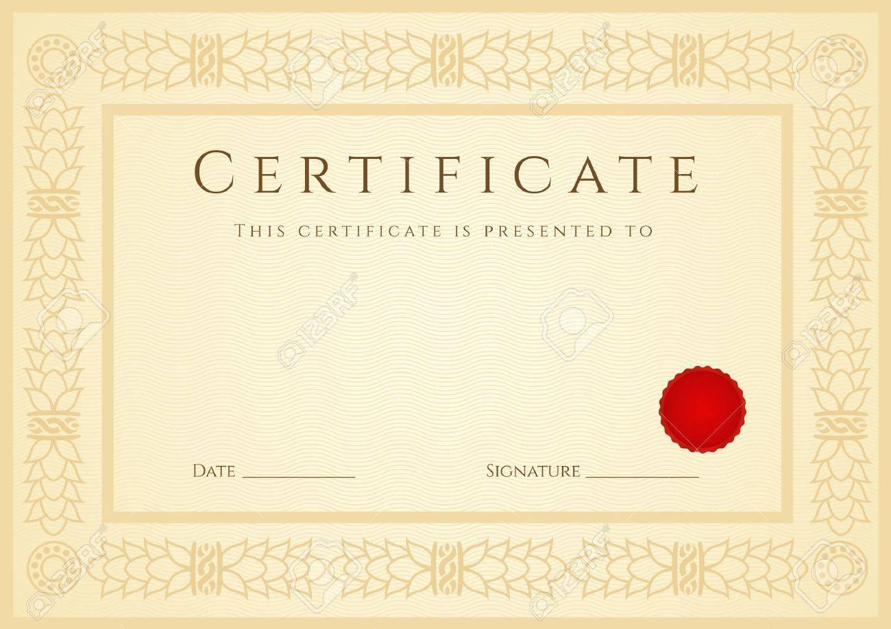 Fantastisch Probe Des Certificate Of Completion Zeitgenössisch ...