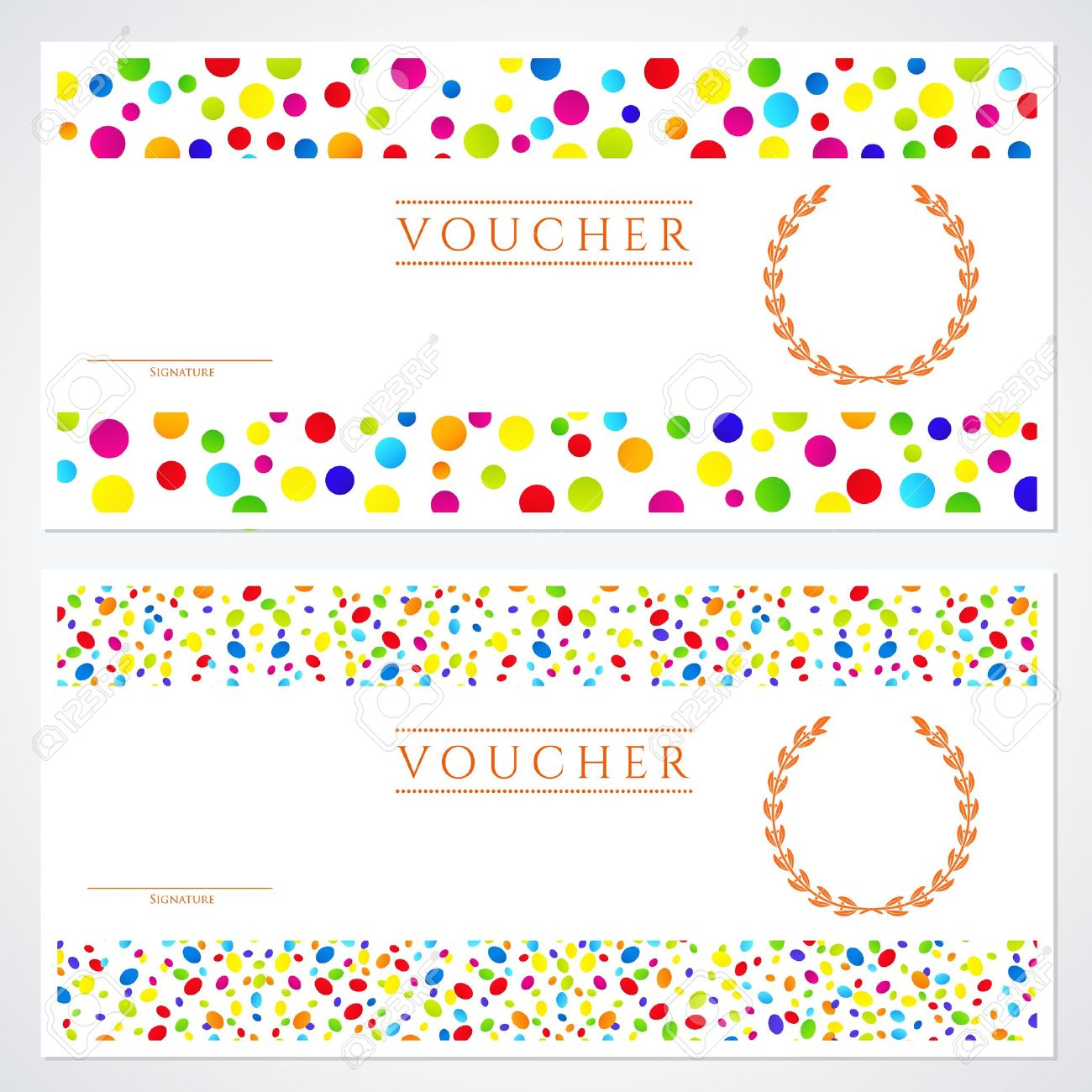 voucher gift certificate template colorful bright rainbow voucher gift certificate template colorful bright rainbow abstract background design