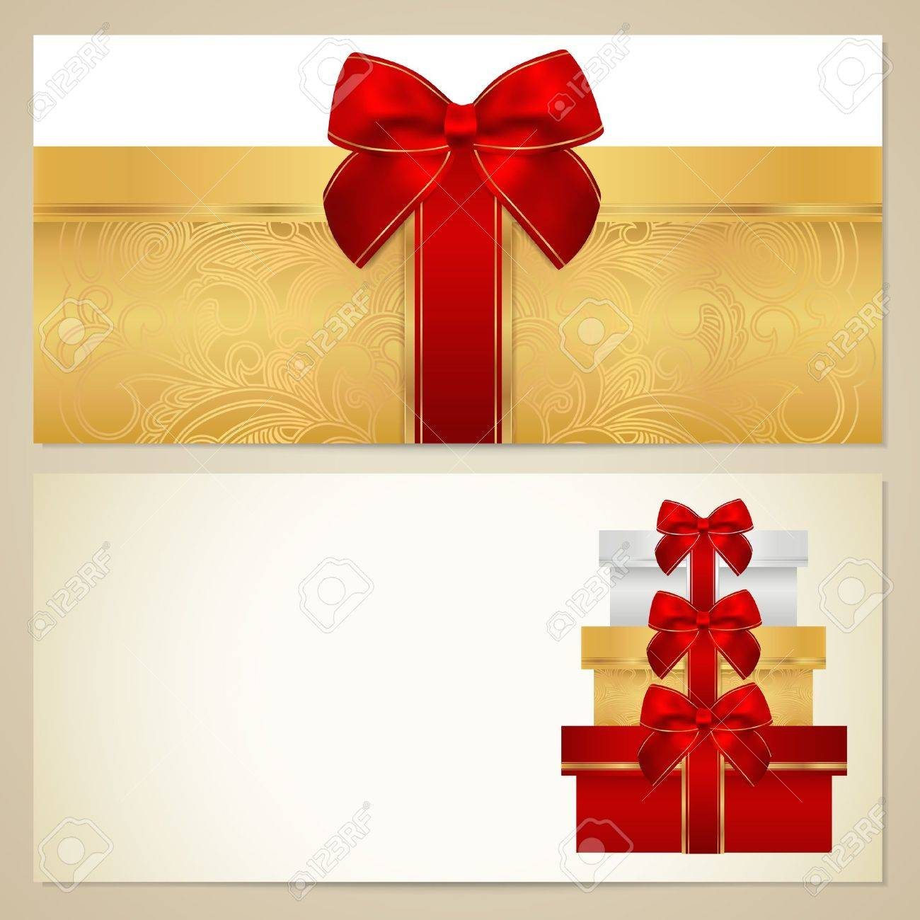 voucher gift certificate coupon template present boxes voucher gift certificate coupon template present boxes bow