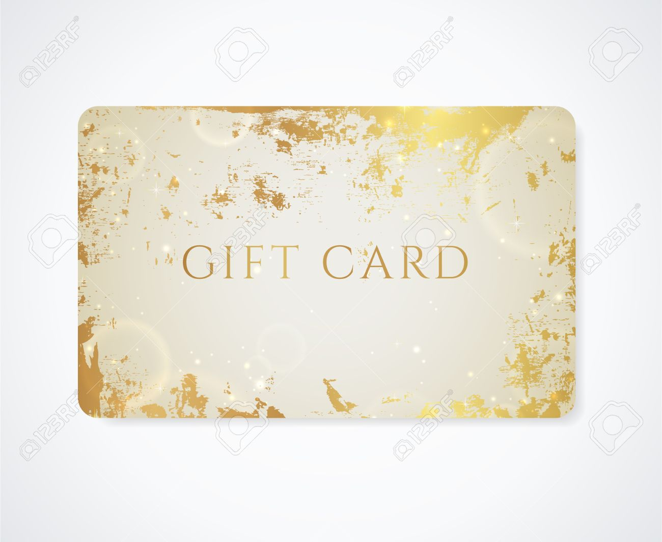 Golden Gift Card, Business Card Royalty Free Cliparts, Vectors ...