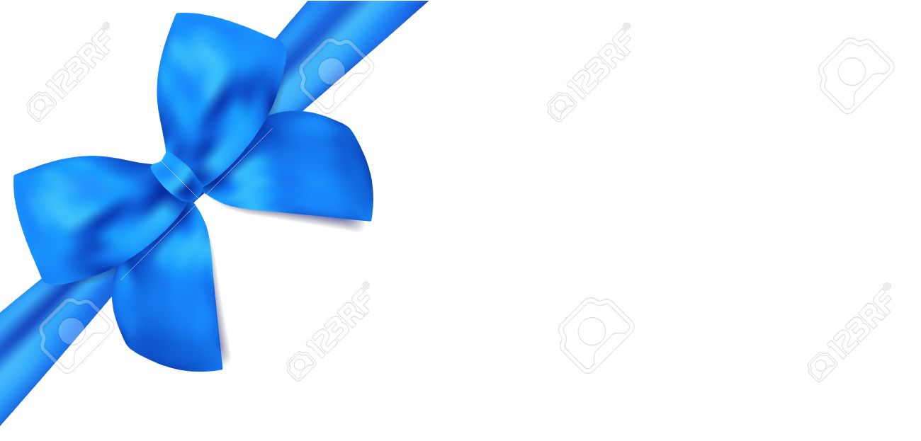 Gift Certificate Voucher Template With Isolated Blue Bow Ribbons ...