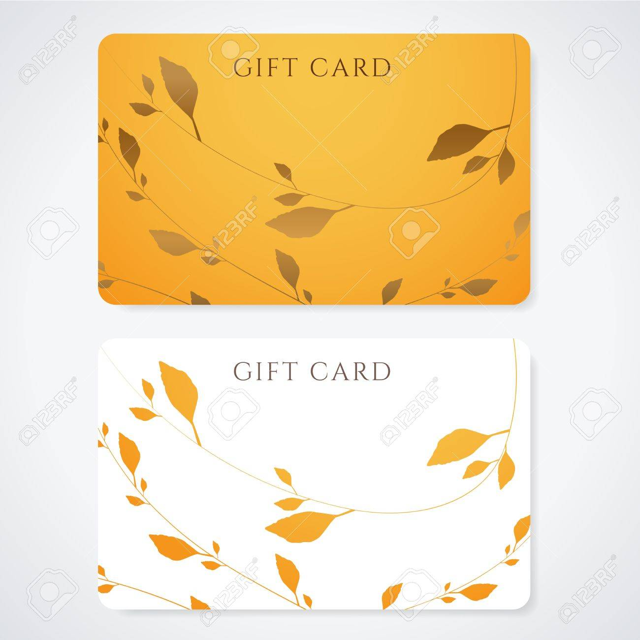 gift card discount card business card floral pattern gift card discount card business card floral pattern background design usable for gift coupon