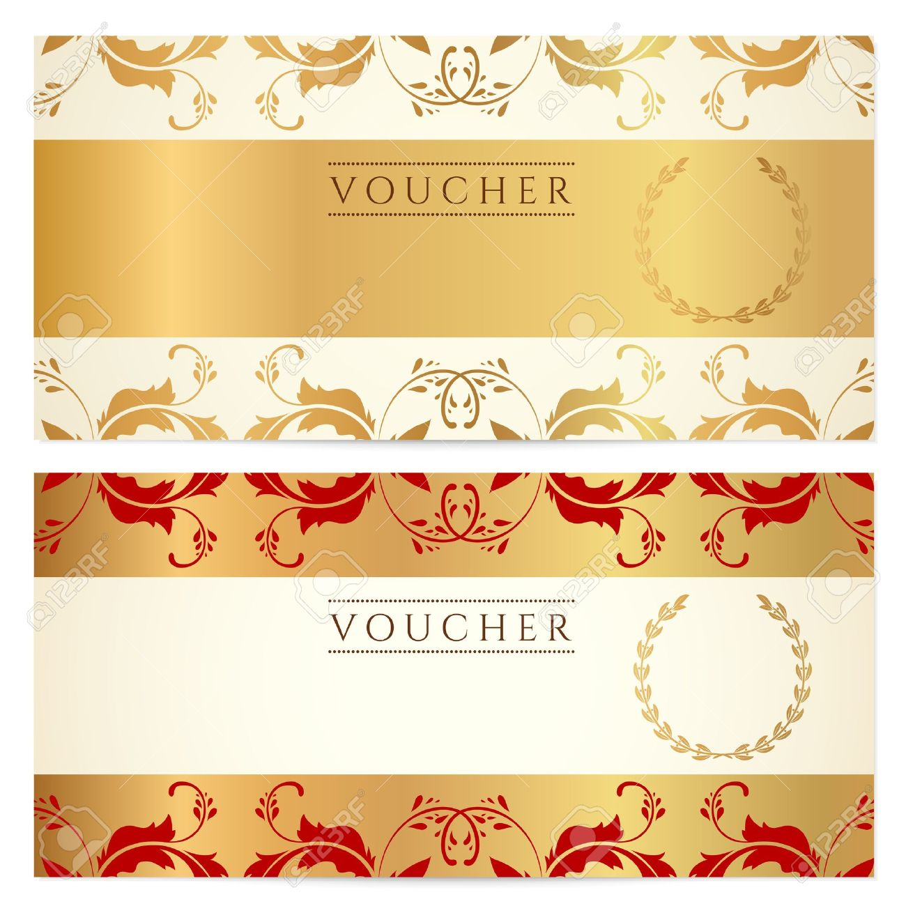 voucher gift certificate coupon template floral border vector voucher gift certificate coupon template floral border