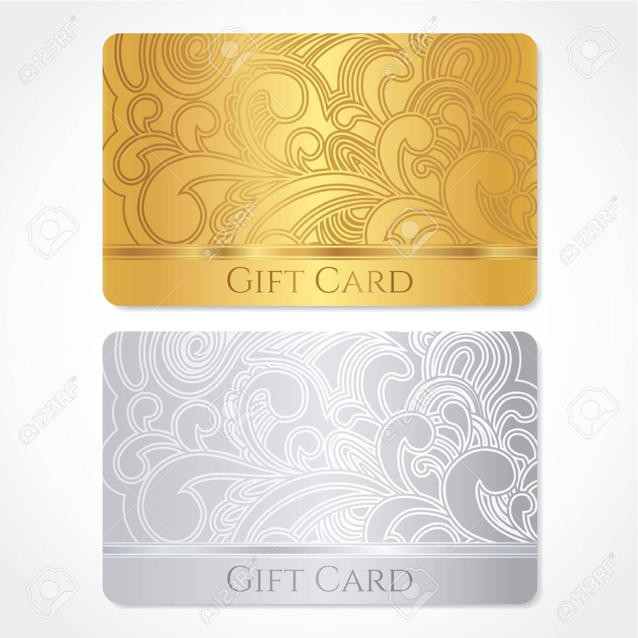 ticket outline stock photos images royalty ticket outline ticket outline silver and gold gift card discount card business card floral scroll