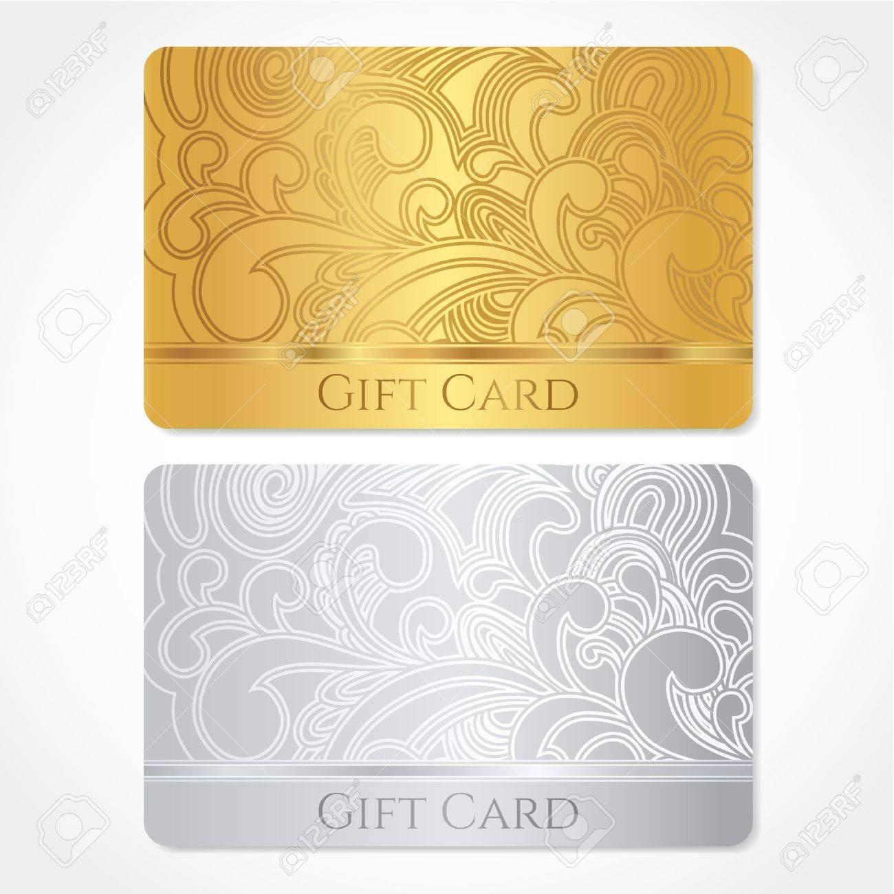 Silber-und Gold-Geschenk-Karte-Rabatt-Karte, Visitenkarte Mit ...