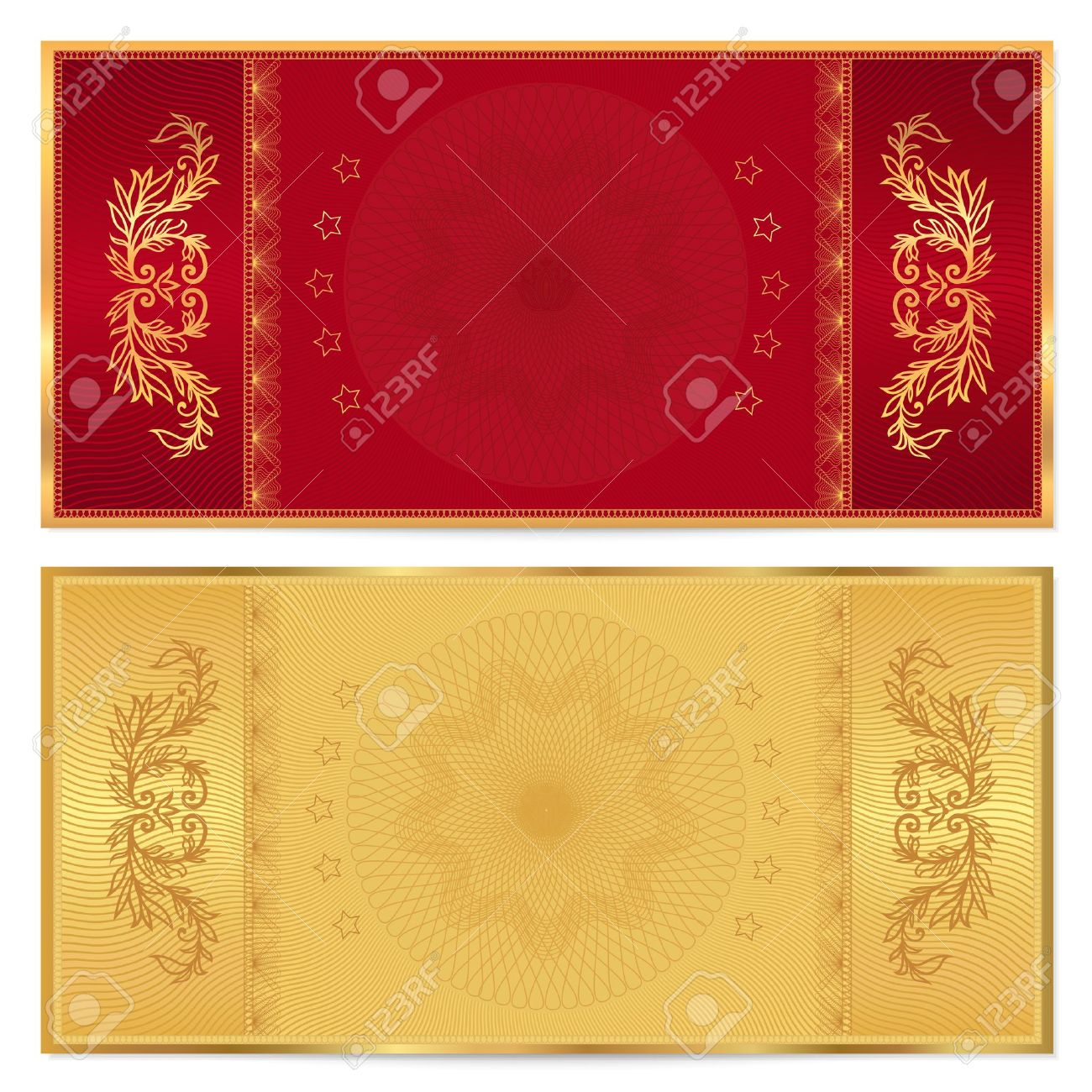 Gold Ticket Voucher Gift Certificate Coupon Template With – Money Coupon Template