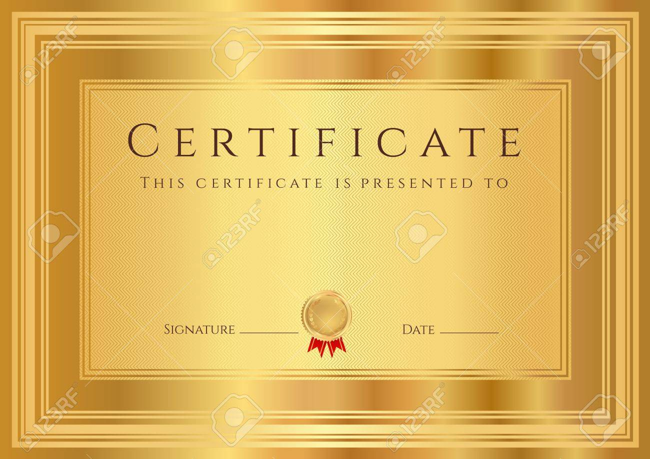 Golden border certificate of appreciation template booklet golden border certificate templates blank home purchase agreement 21398042 certificate diploma of completion design template background yadclub Image collections