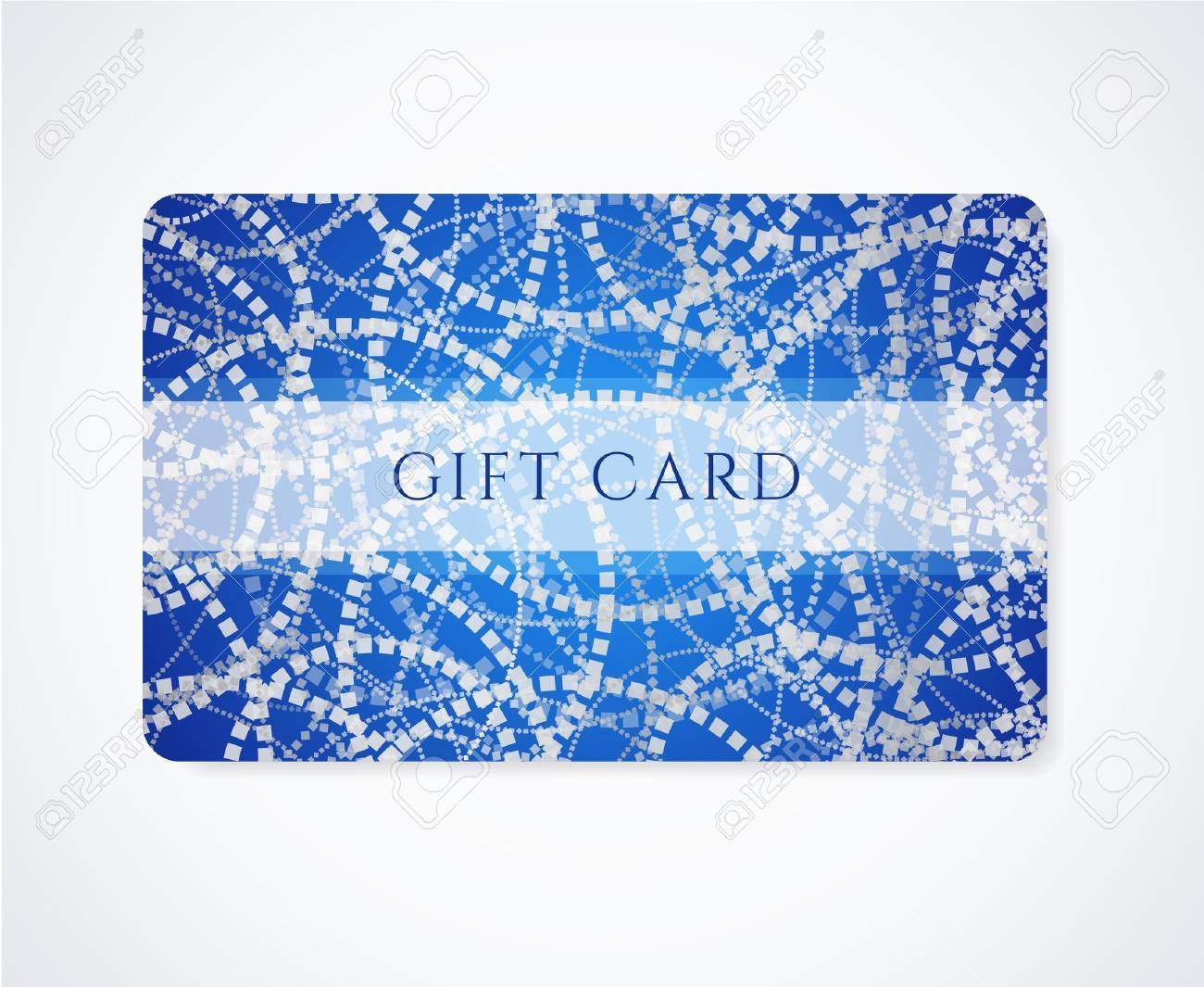 Dark Blue Gift Card, Business Card, Discount Card Template With ...
