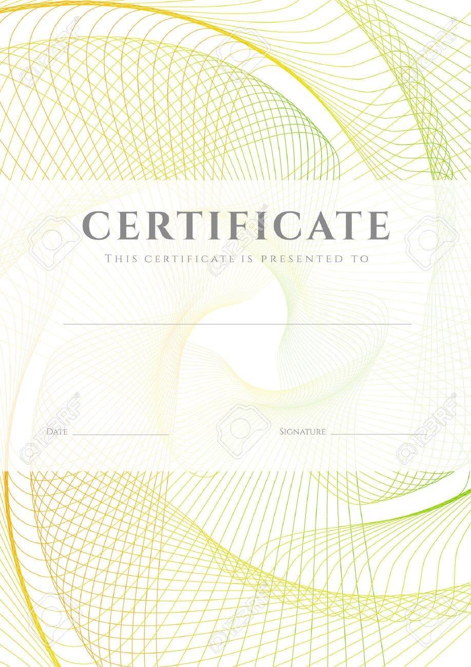 Certificado, Diploma De La Plantilla De Diseño De La Terminación, El ...