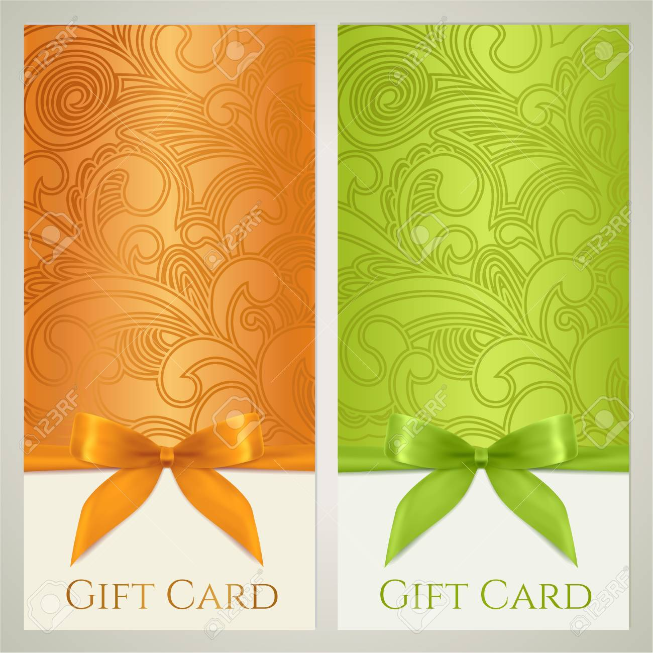 Gift Certificate Gift Card Voucher Coupon Template With Floral – Voucher Card Template