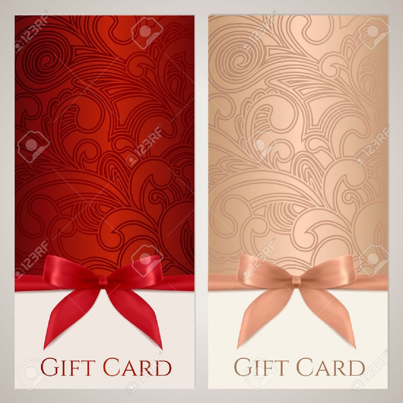 christmas coupon set stock illustrations cliparts and christmas coupon set gift certificate gift card voucher coupon template floral