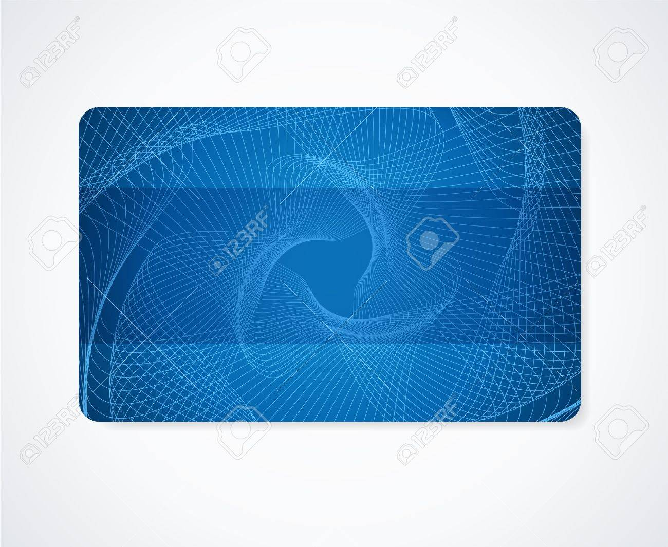 Dark blue business card gift card discount card template layout dark blue business card gift card discount card template layout with rainbow guilloche pattern wajeb Choice Image