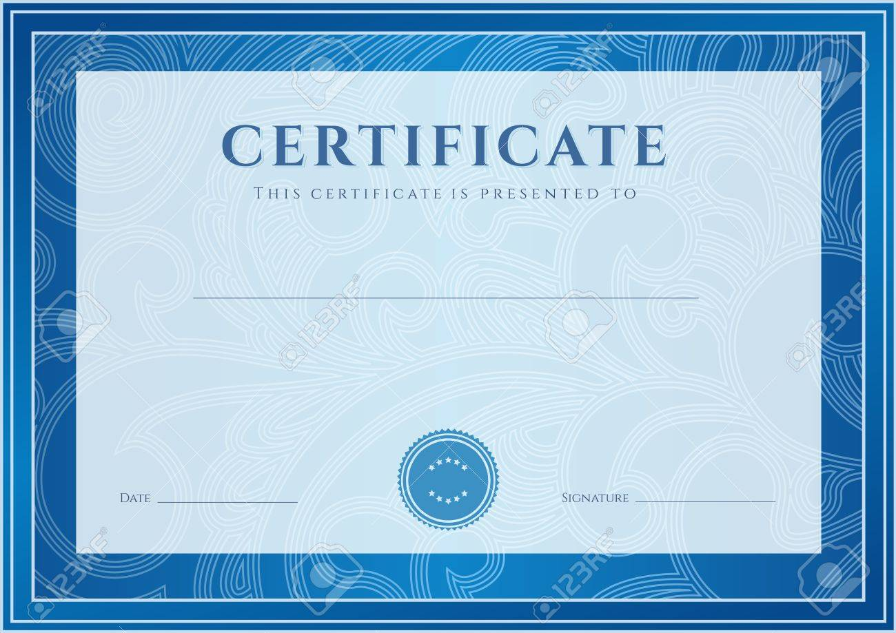 Certificate diploma of completion design template background certificate diploma of completion design template background floral scroll swirl pattern watermark yadclub Image collections