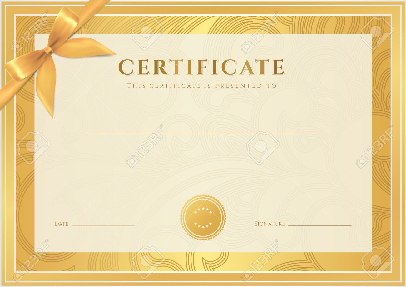 Certificate diploma of completion template background gold certificate diploma of completion template background gold floral scroll swirl pattern watermark yadclub Image collections