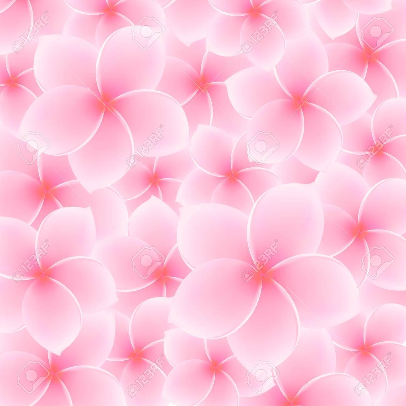 Tropical Pink Plumeria, Frangipani pattern  background Stock Vector - 21824686