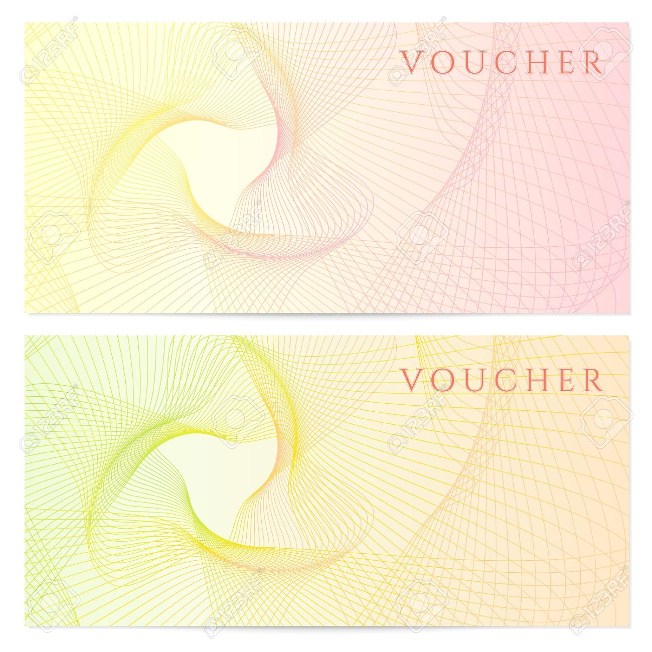 gift certificate voucher coupon template with colorful rainbow