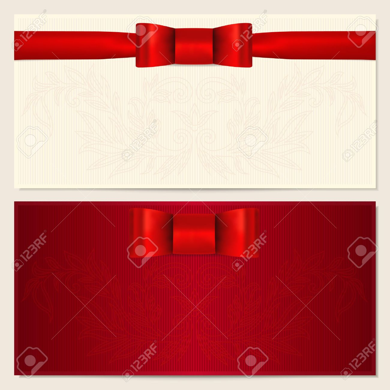 Voucher Gift Certificate Coupon Invitation Or Gift Card – Gift Card Templates
