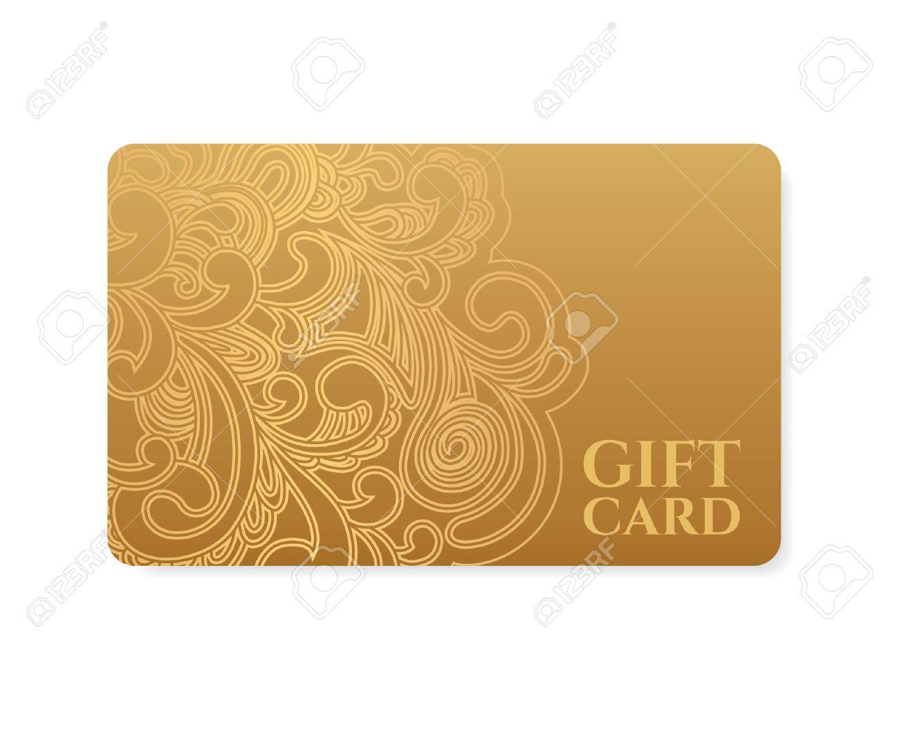 Gutschein, Geschenkkarte Rabatt-Karte, Visitenkarte Mit Floralen ...