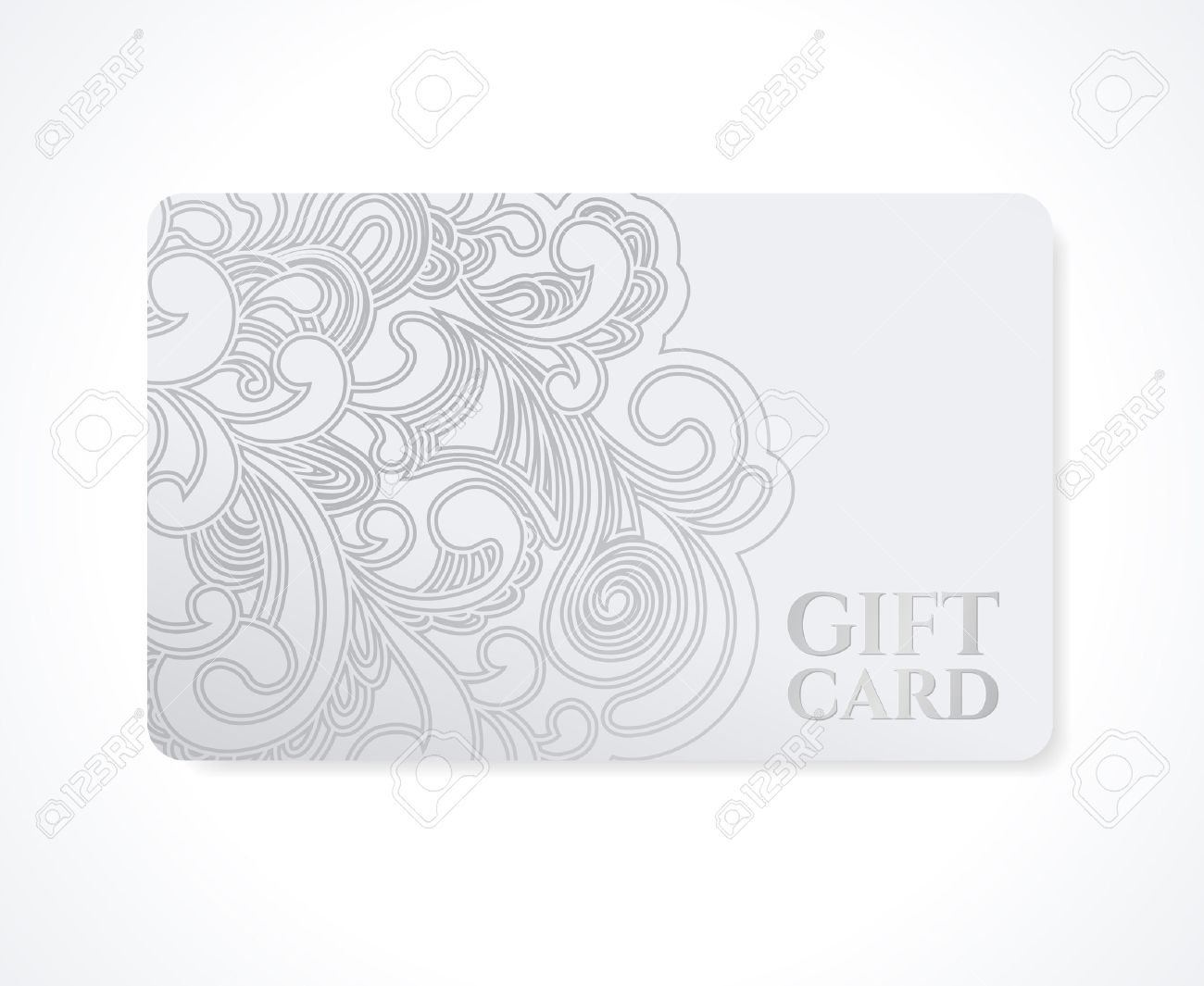 Gift Coupon, Gift Card Discount Card, Business Card With Floral ...