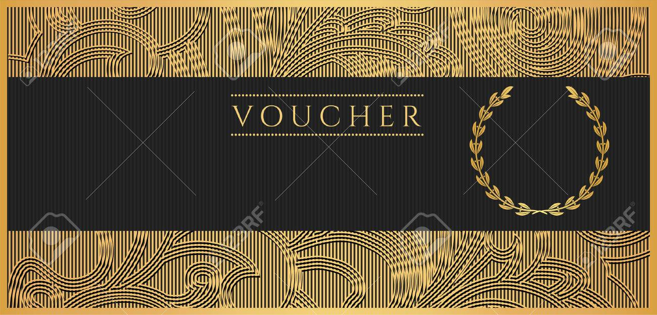 Voucher gift certificate coupon template floral scroll pattern vector voucher gift certificate coupon template floral scroll pattern bow frame background design for invitation ticket banknote money design stopboris Image collections