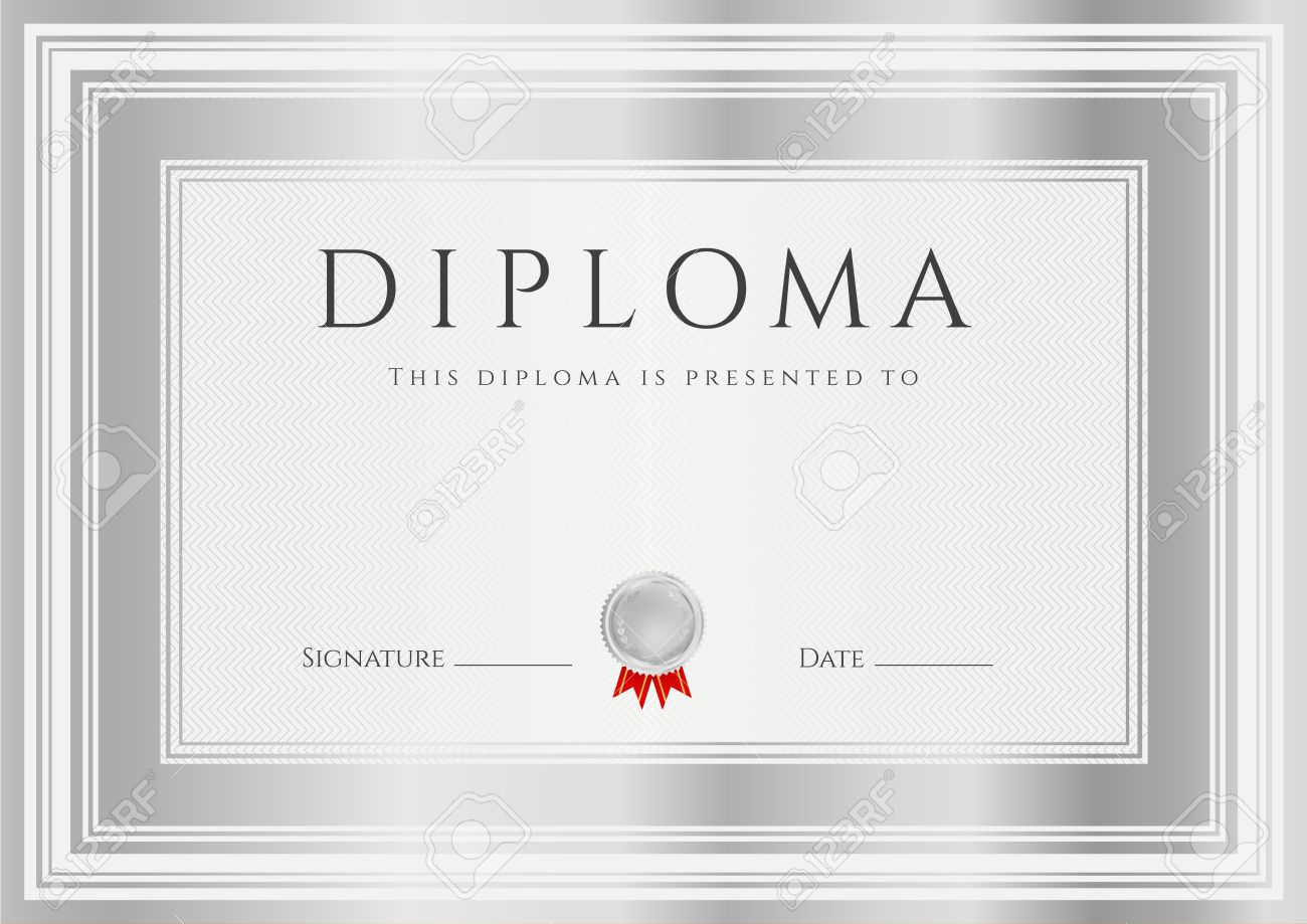 Diploma certificate of completion design template background diploma certificate of completion design template background with silver frames diploma of achievement xflitez Image collections