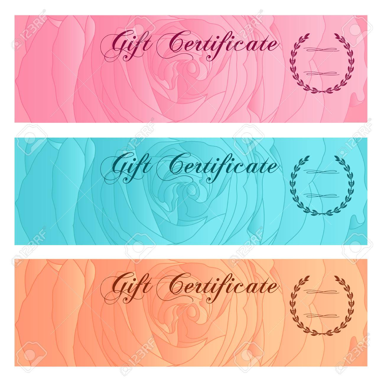 Gift Certificate Voucher Coupon Reward Or Gift Card Template