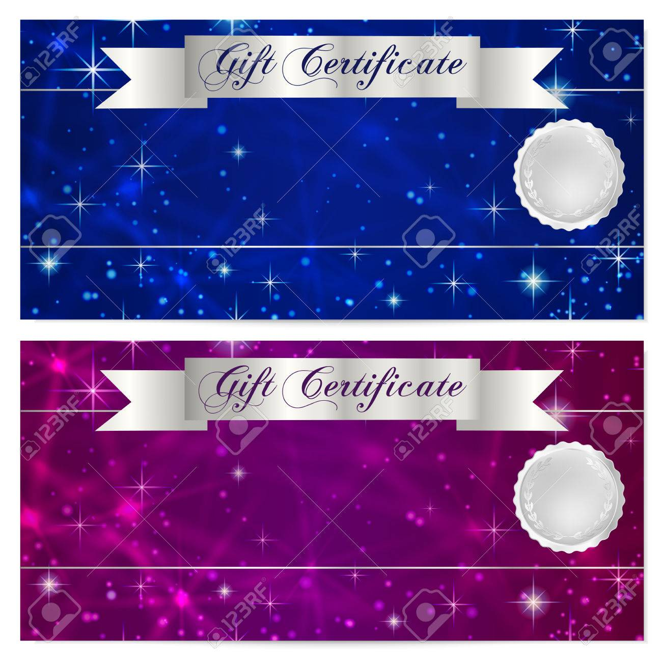 Gift Certificate, Voucher, Coupon, Reward Or Gift Card Template ...