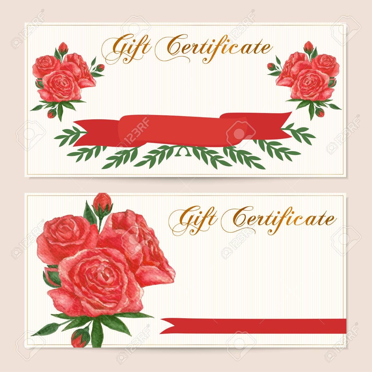 gift certificate voucher coupon reward gift card template