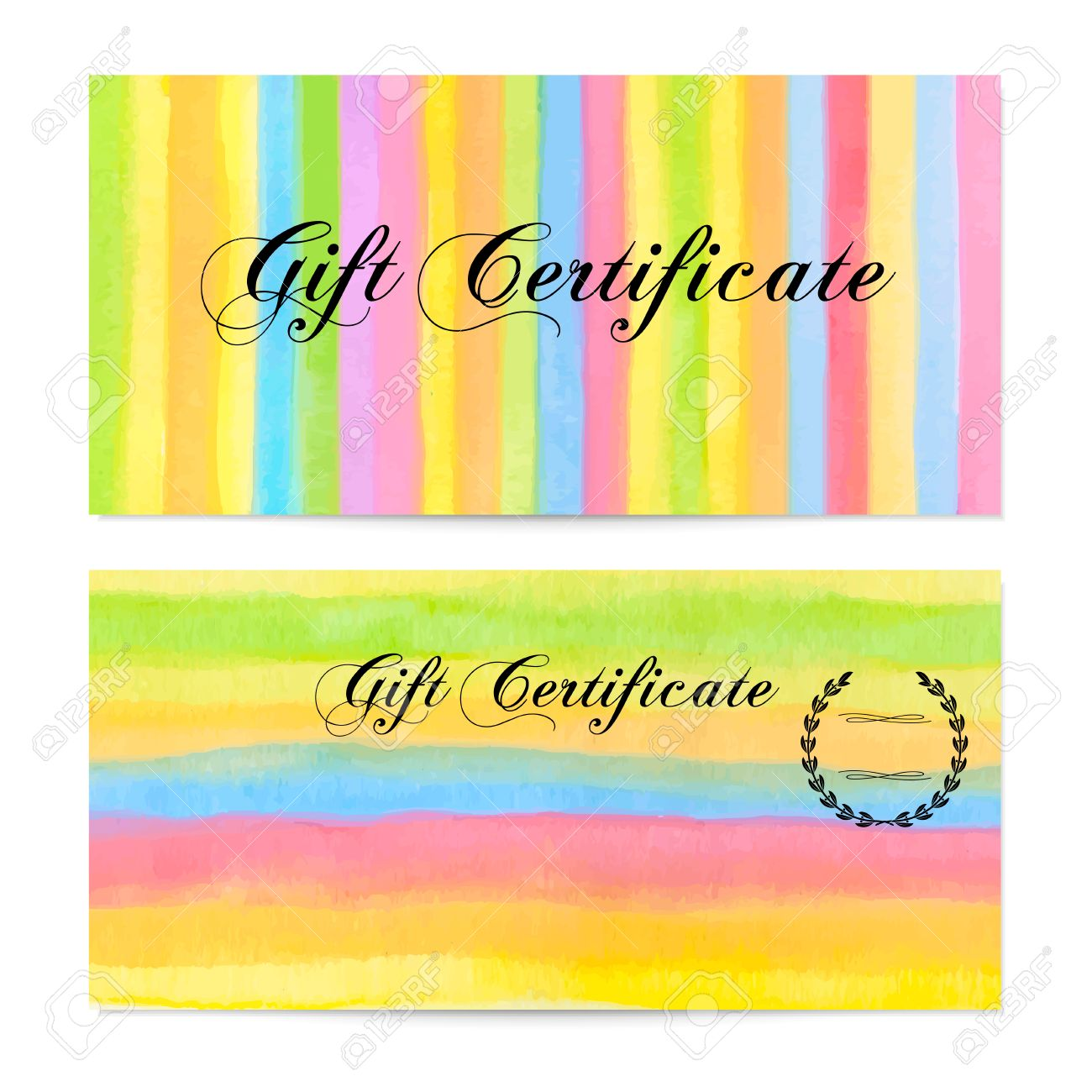 Gift certificate voucher coupon gift money bonus gift card gift certificate voucher coupon gift money bonus gift card template with colorful pronofoot35fo Gallery