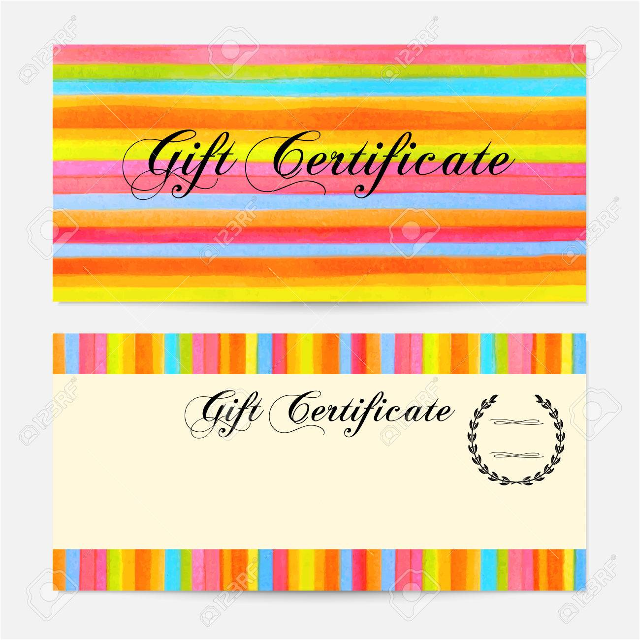Gift certificate voucher coupon gift money bonus gift card gift certificate voucher coupon gift money bonus gift card template with colorful yadclub Gallery