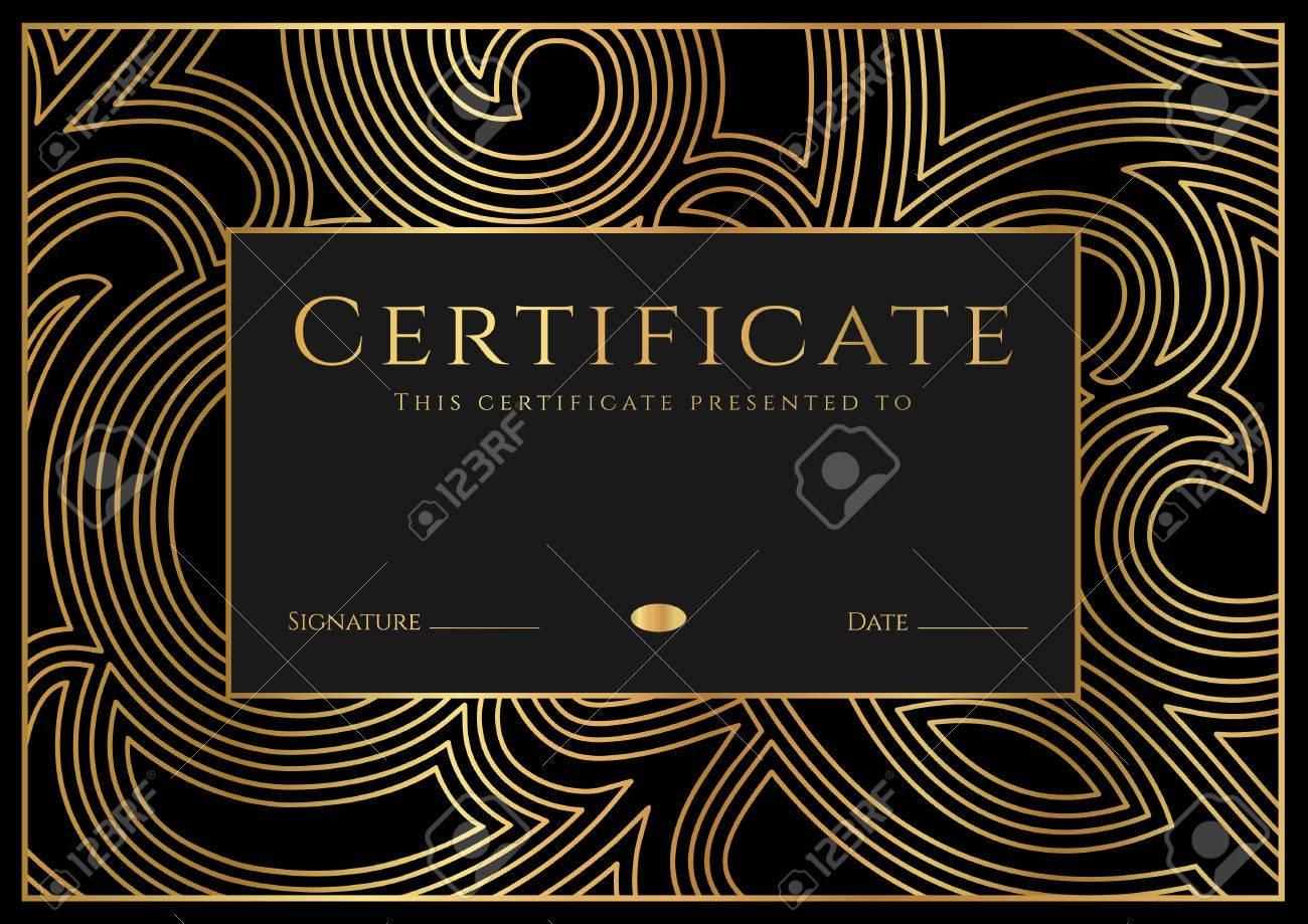 Certificado, Diploma De Finalización (plantilla De Diseño, Fondo ...