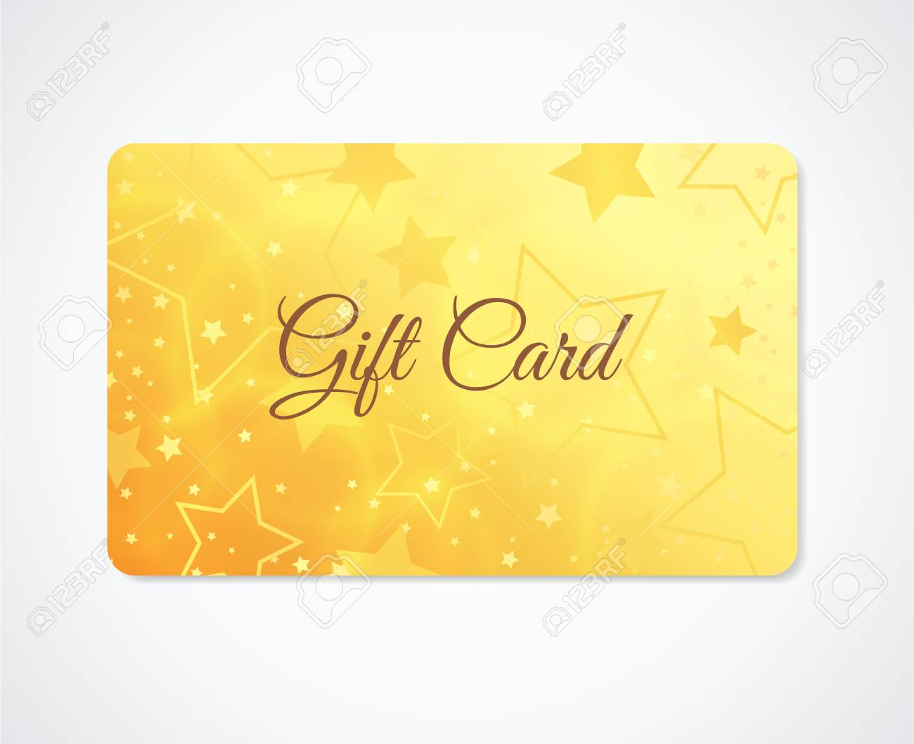 Gift Card, Gift Coupon, (discount, Business Card) Withsparkling ...