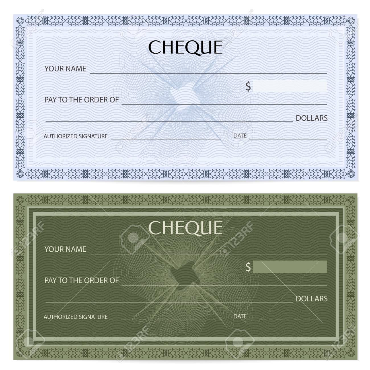 Verificar (consultar), Plantilla De Talonario De Cheques. Patrón De ...
