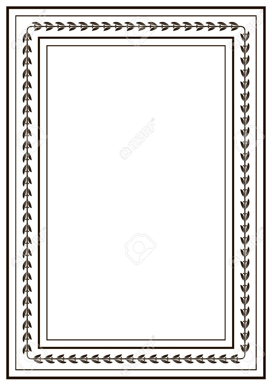 Frame Border Design Template Black And White Decorative Vector