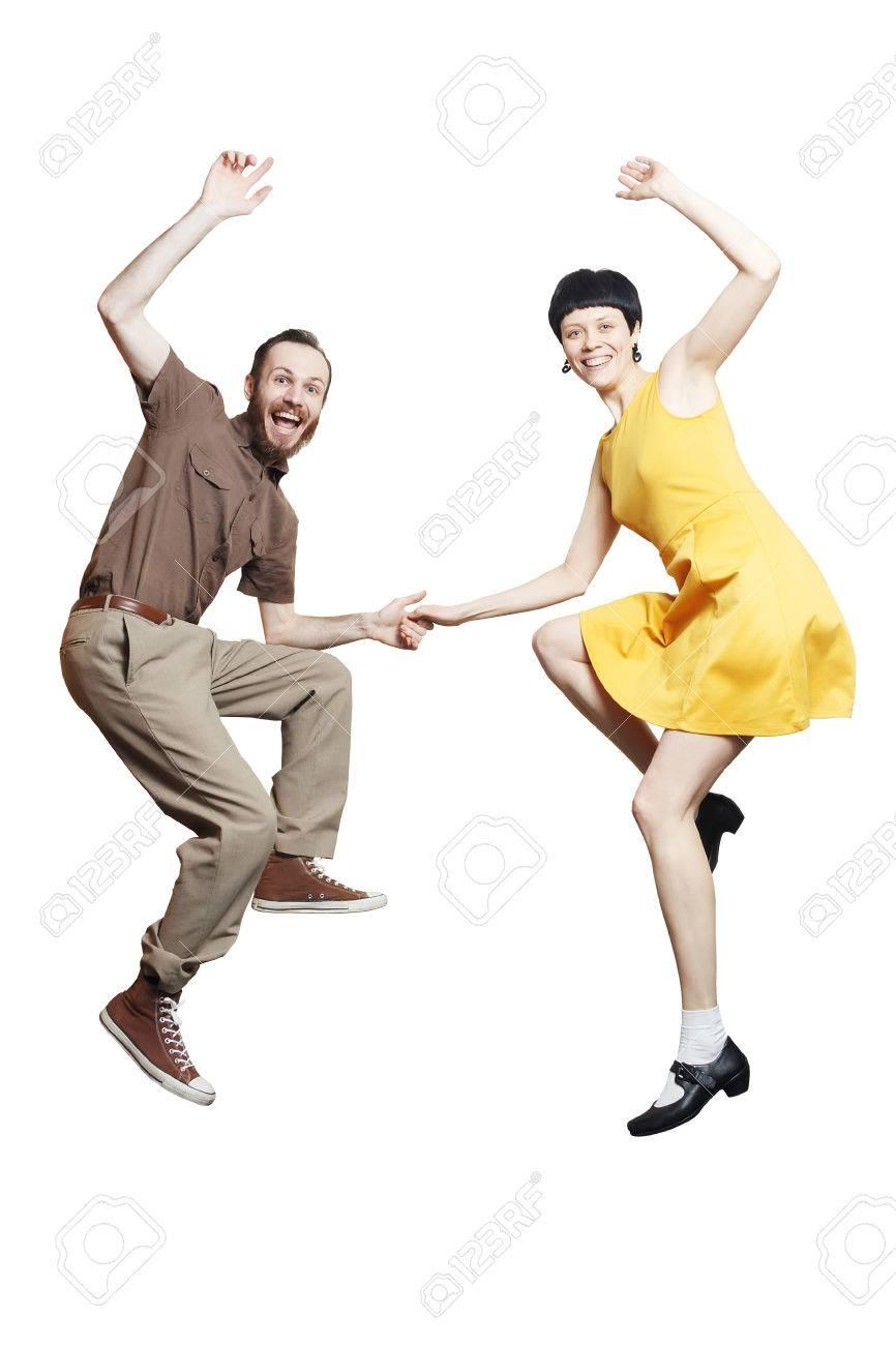 Prächtig Rock'n'roll Dance Boogie Woogie. Boogie Acrobatic Stunt In A &UO_36
