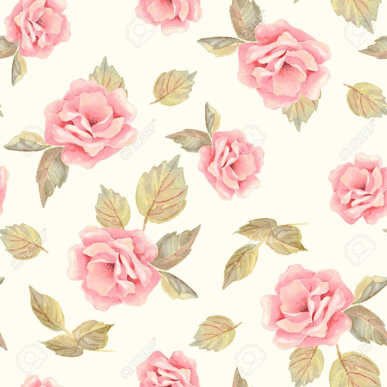 おしゃれ手描き花。シームレス花柄 22 ロイヤリティーフリーフォト