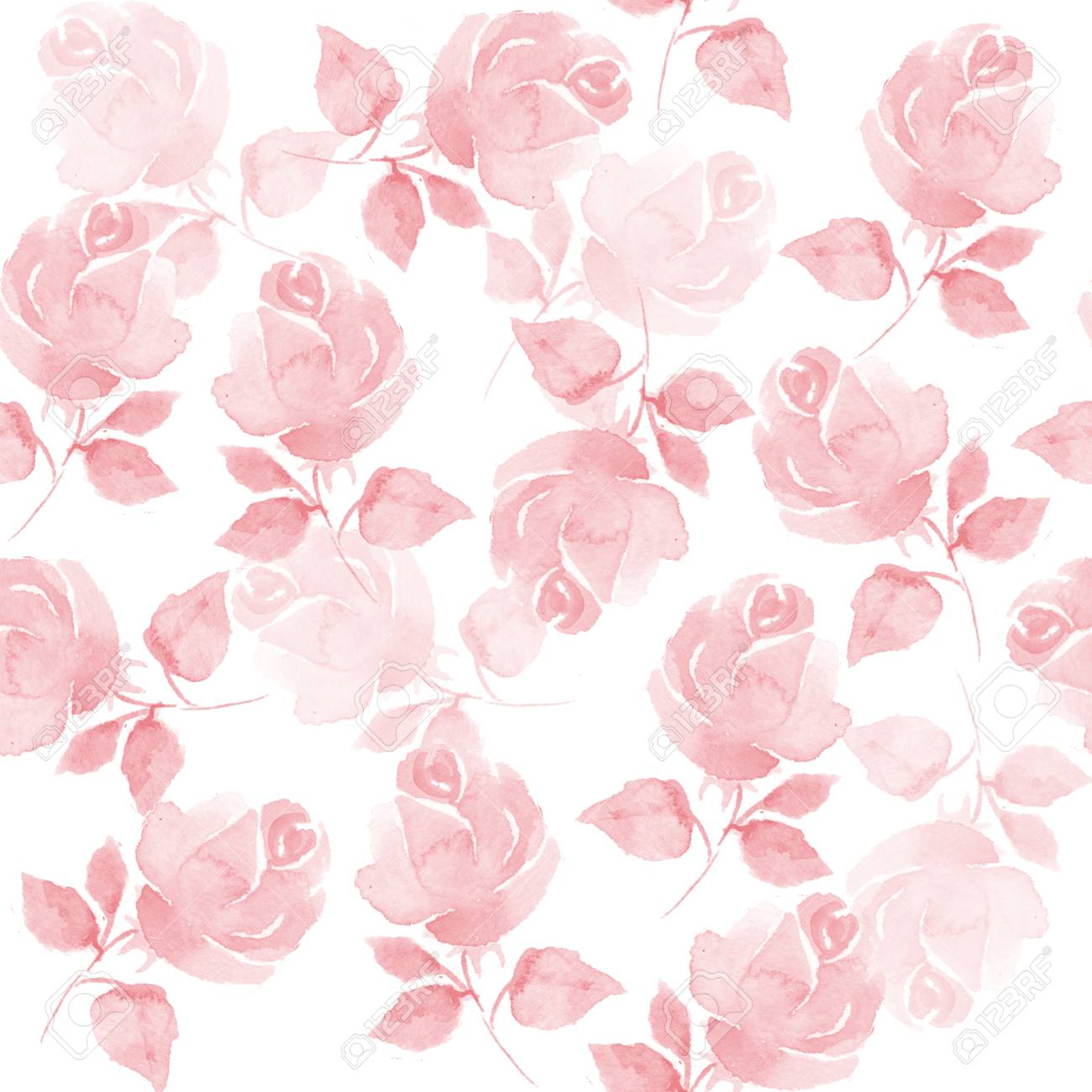 Background with beautiful roses. Seamless pattern with hand-drawn flowers 53 - 47999099