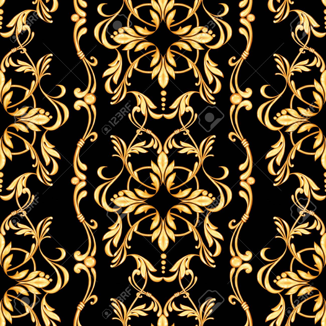 Repetitive Ornate Chevron Patterns Filled with Baroque Floral Texture Motifs Artful Background for Child Baby Shower Photo Vinyl Studio Prop Photobooth Photoshoot 10x12 FT Photography Backdrop