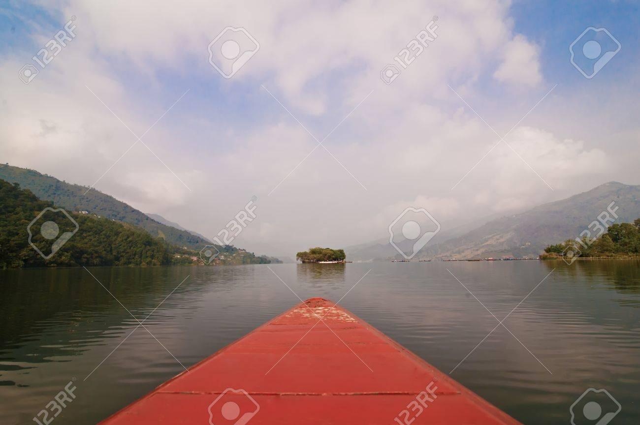 caique on phewa lake pokhara nepal Stock Photo - 11067115