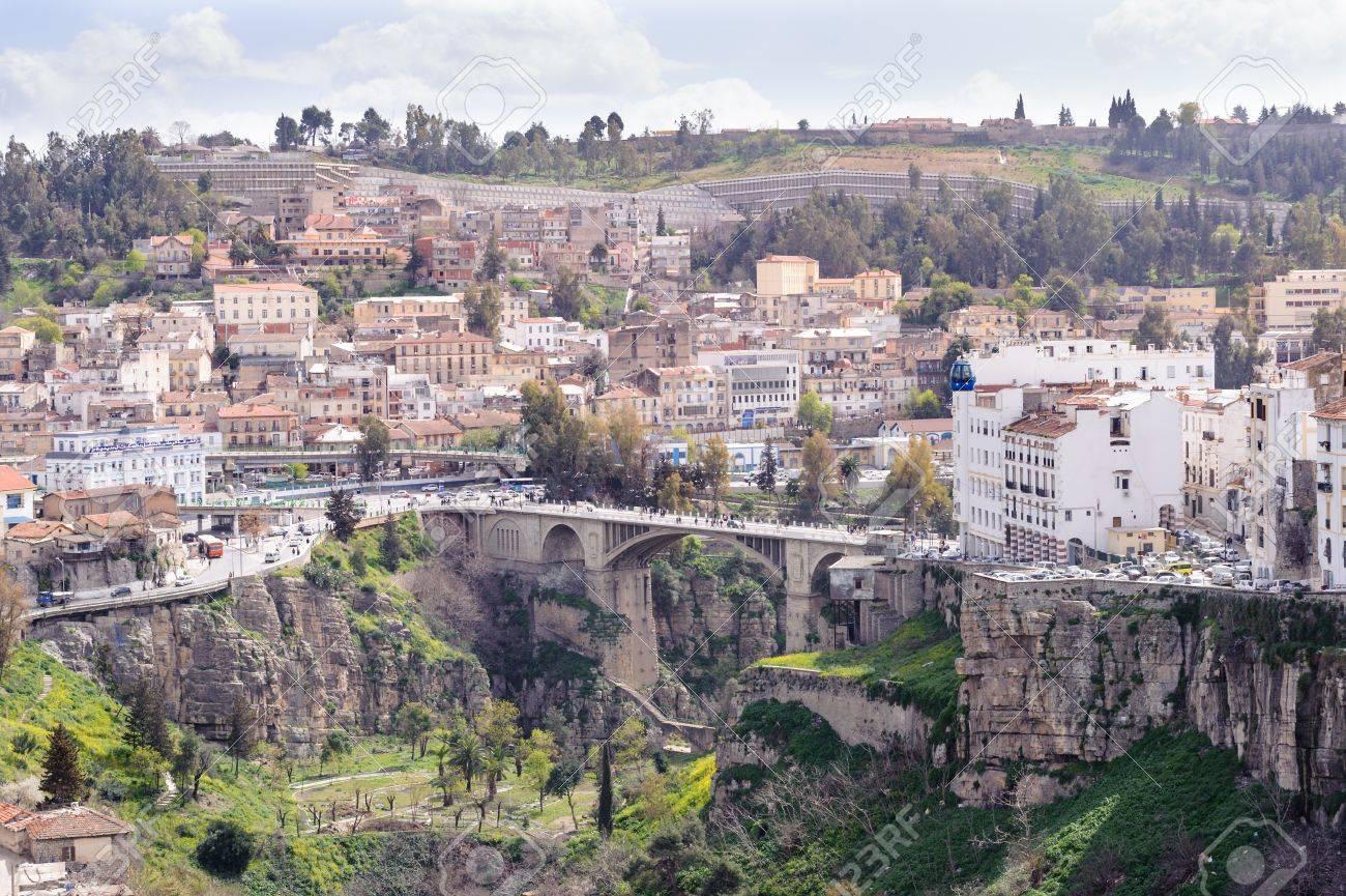 Constantine Algerie 7 Mars 2017 Paysage Urbain Du Cote Colonial