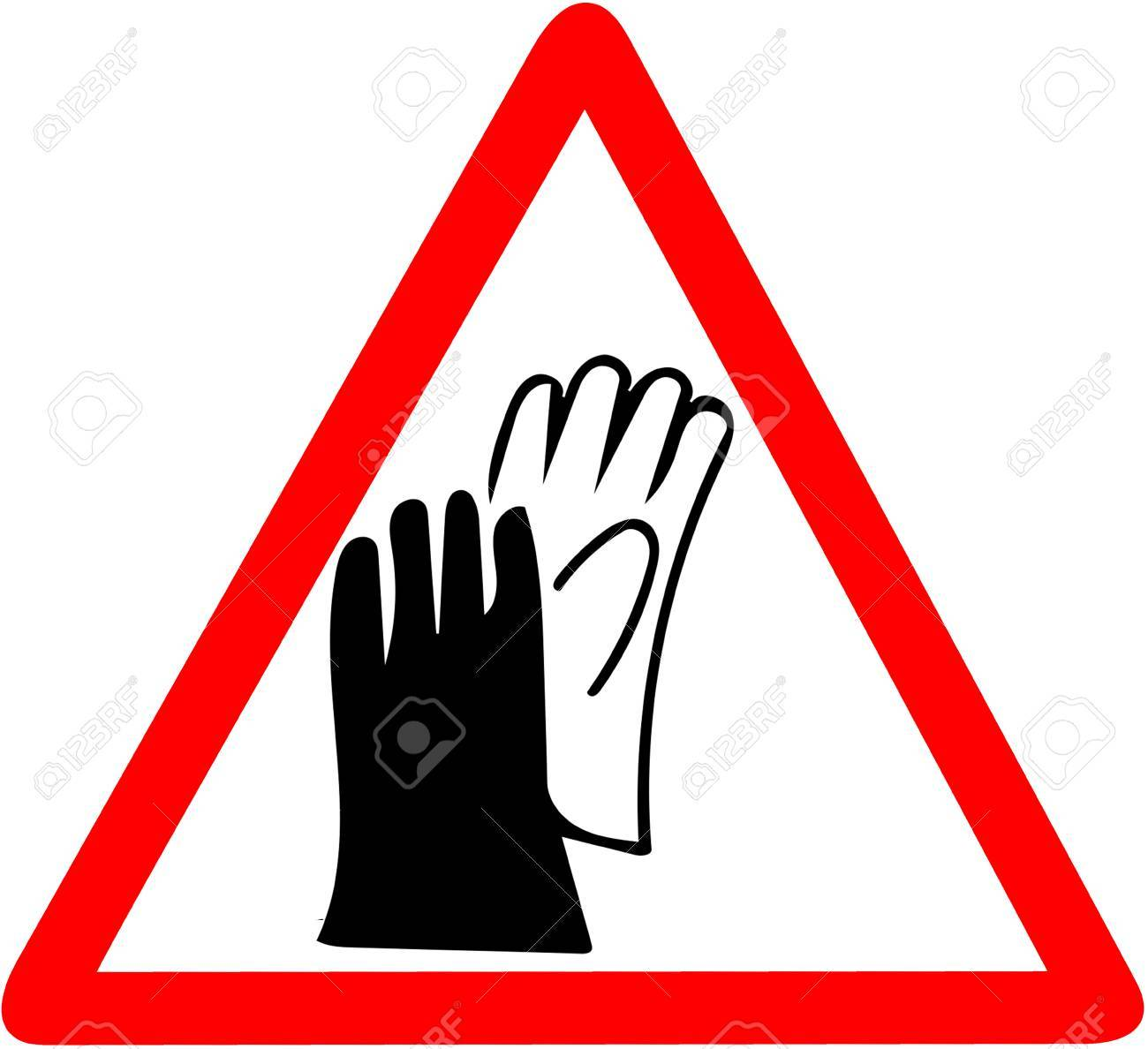 Safety Sign Wear Gloves Protection Job Security Signbe Sure