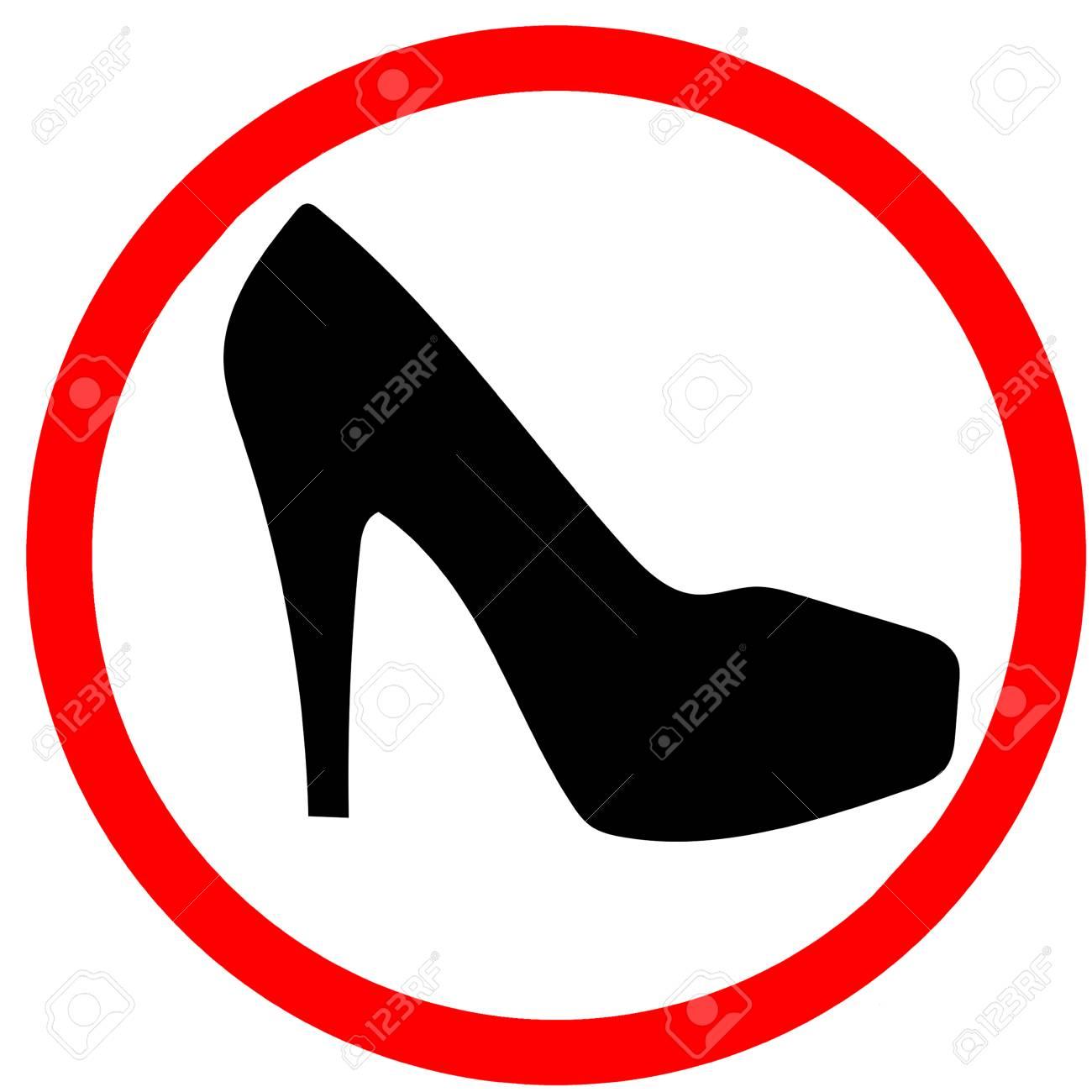 Woman Warning High Heel Shoes Girl