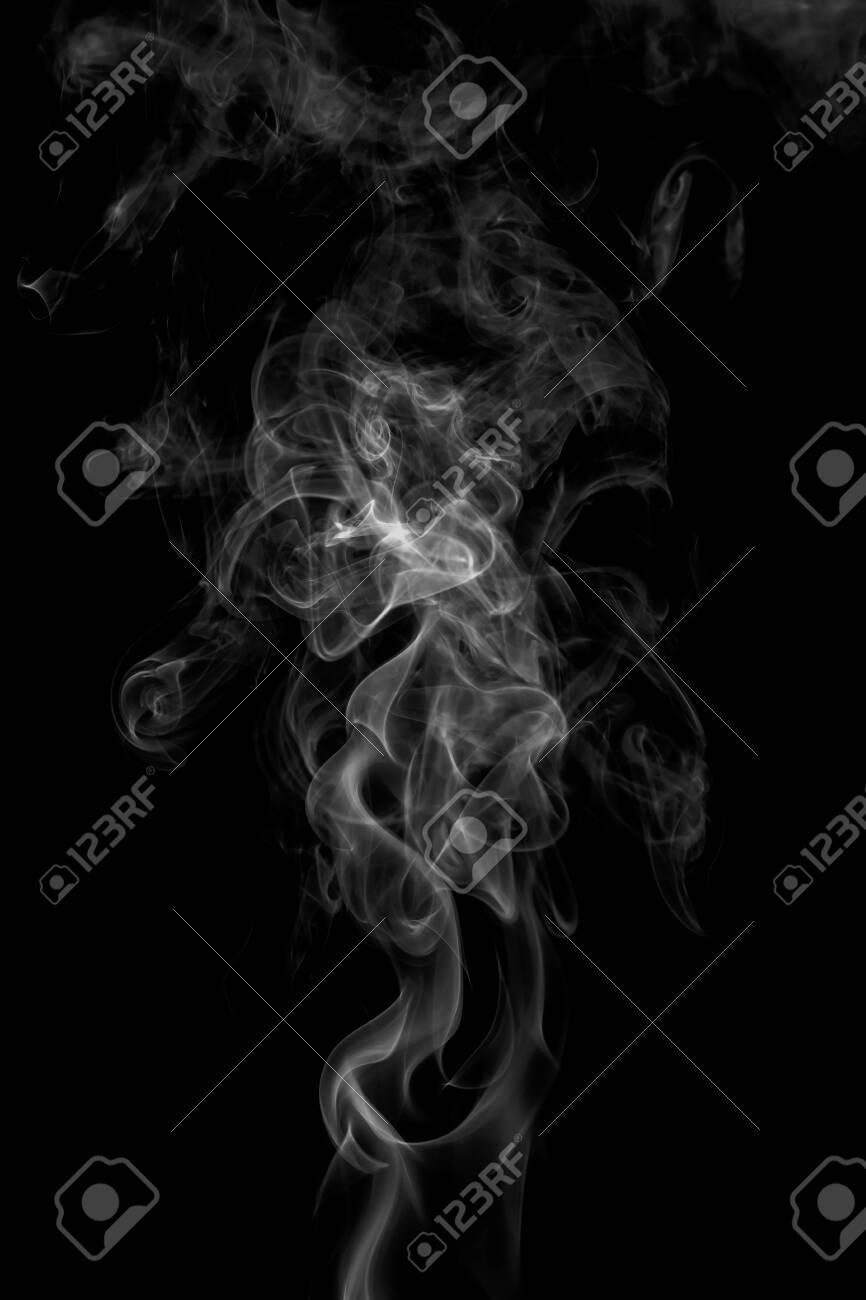 colorful smoke on dark background - 123273455