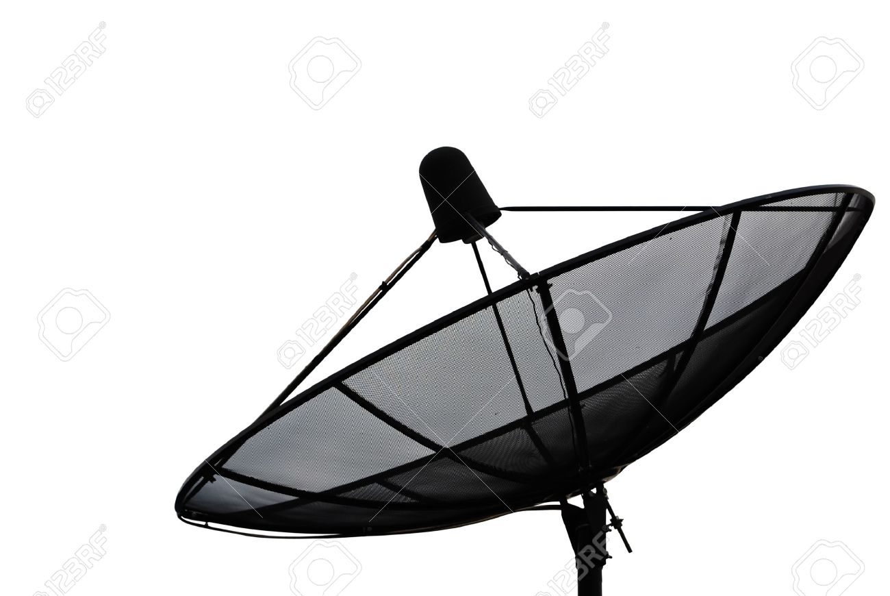 Satellite dish isolate on the white. Stock Photo - 9214608